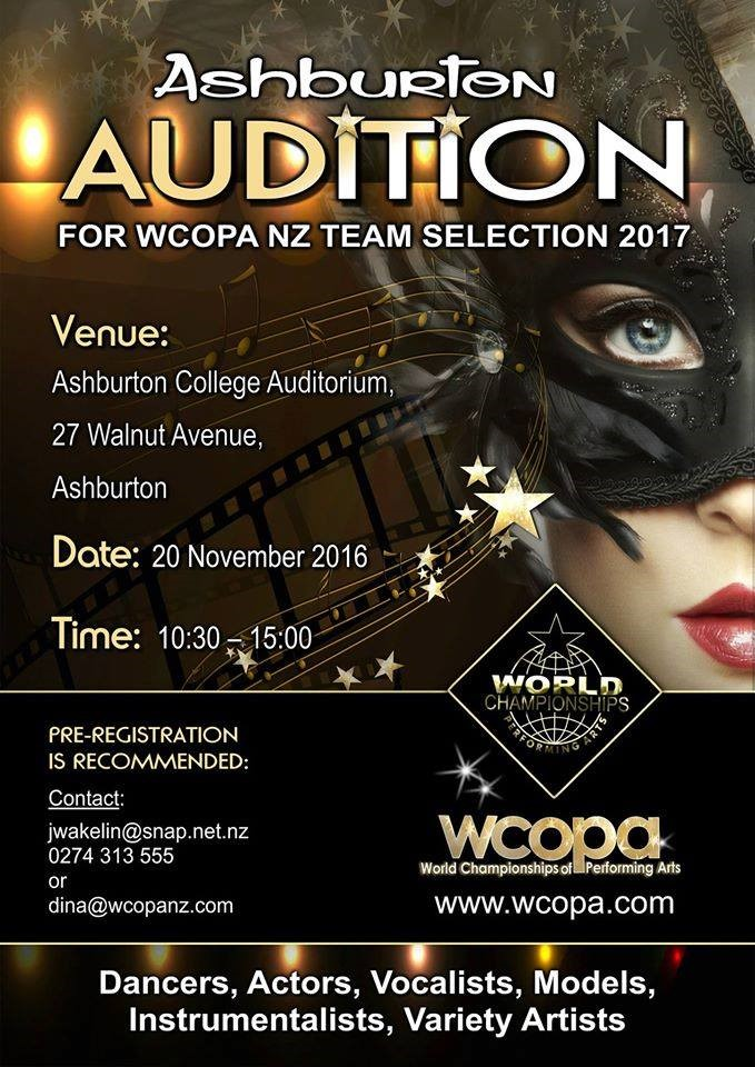 wcopa new zealand audition